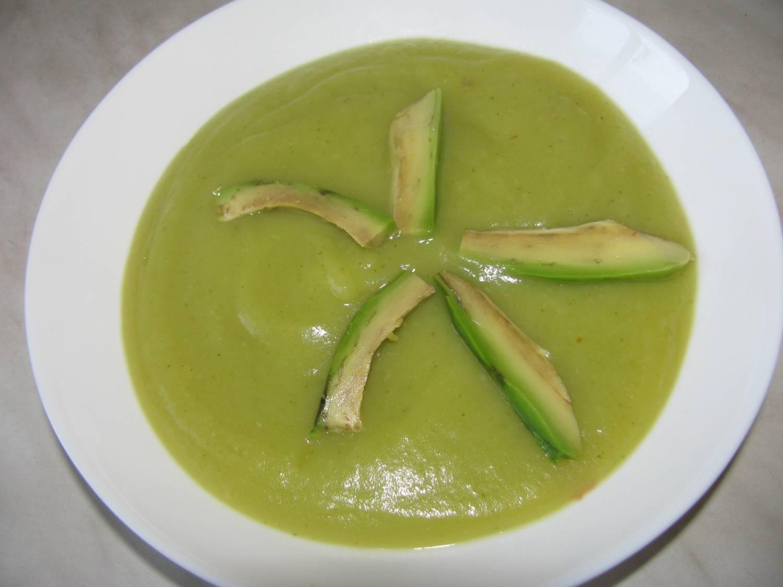 Суп-пюре из брокколи и кабачка