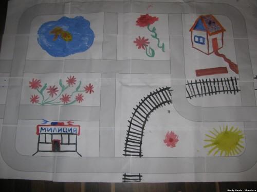 Дорога из бумаги для детей