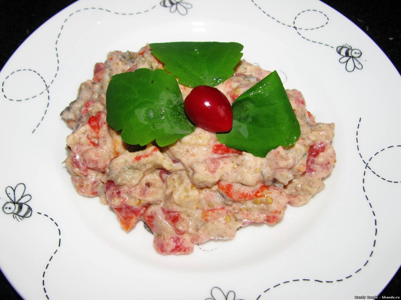 Восточный салат из печеных овощей